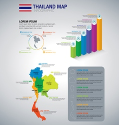 Thailand Map Infographic vector image
