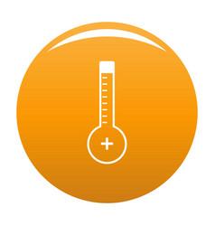 thermometer warmly icon orange vector image