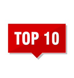 top 10 red tag vector image