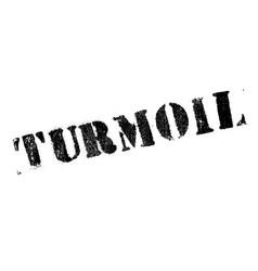 turmoil rubber stamp vector image