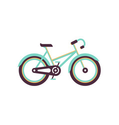 Turquoise and yellow bike modern bicycle vector