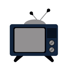 vintage tv icon image vector image