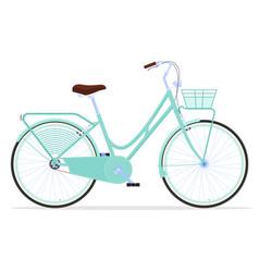 Vintage womens bicycle active way life vector