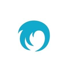 Wave Icon logo on white background vector image