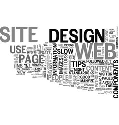 Web design tips text word cloud concept vector