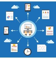 web programming and analytics vector image