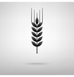 Wheat black icon vector image