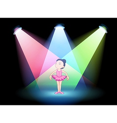 A stage with a ballet dancer vector image vector image
