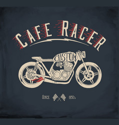 cafe racer motorcycle vector image vector image