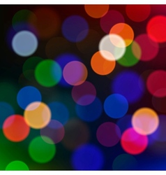 Defocused Christmas lights blur background vector image vector image