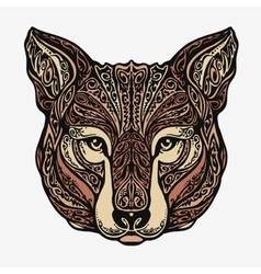 Ethnic ornamented jackal coyote wolf or dog vector image vector image