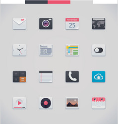generic UI icons vector image vector image