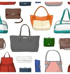 Pattern with different women bags vector image