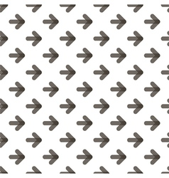 Rounded transparent black arrows seamless pattern vector