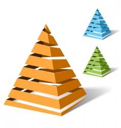 spiral pyramids vector image vector image