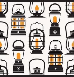 vintage camping lantern labels vector image vector image