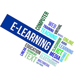 word cloud e learning vector image