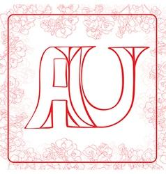 AU monogram vector image