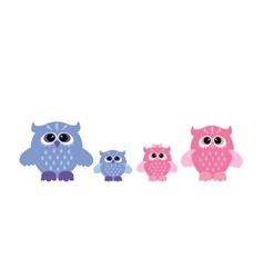 cute owl set vector image
