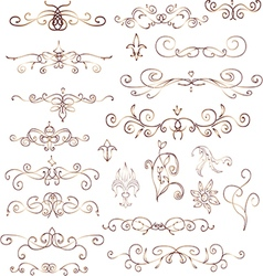 Decorative vintage elements vector image vector image