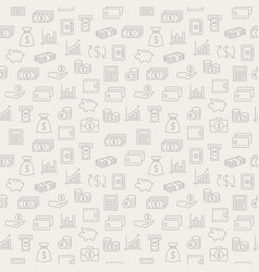 money seamless pattern background with icons vector image