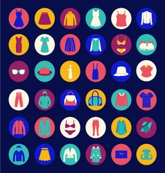 set icons of Fashion cloth and accessories collect vector image vector image