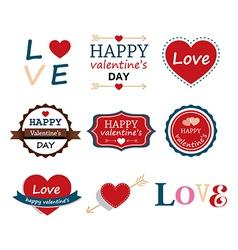 Set Of Happy Valentine vector image
