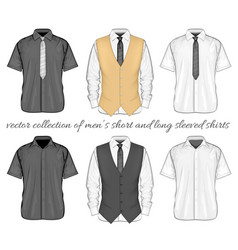 short and long sleeve variants vector image vector image