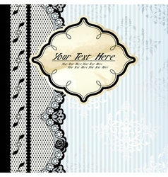 silver background with lace vector image