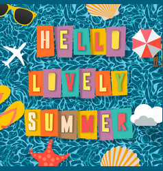 summer time background top view on composition vector image vector image