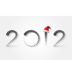 2012 christmas new year vector image vector image