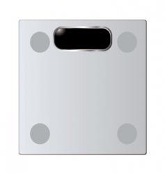 bathroom scales vector image vector image
