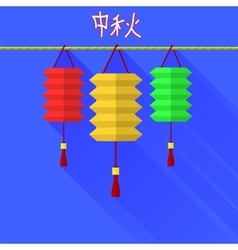 Chinese mid autumn festival graphic design vector image vector image