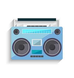 Flat vintage tape recorder for audio cassettes vector image vector image