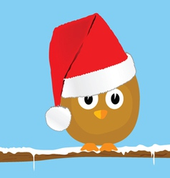 funny animal with christmas hat art vector image vector image