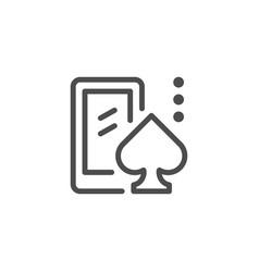 mobile casino line icon vector image