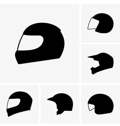 Motorcycle helmets vector image vector image