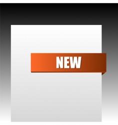 new orange corner business ribbon vector image