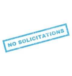 No Solicitations Rubber Stamp vector image vector image