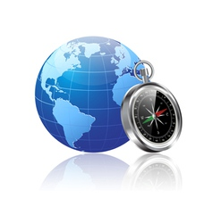 world and compass vector image
