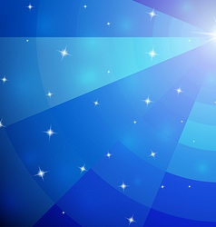Abstract blue mosaic galaxy with perspective vector image vector image