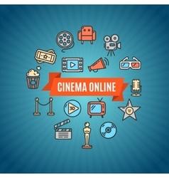 Cinema Concept vector image vector image