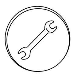 figure wrench emblem icon vector image vector image