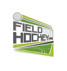 logo of field hockey vector image