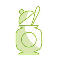 sugar pot with spoon vector image