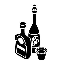 wine whiskey bottle icon simple style vector image vector image