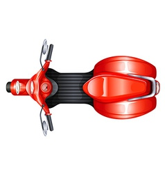 A red scooter vector image