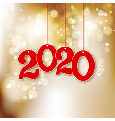 abstract new year background with 2020 vector image