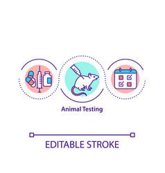 Animal testing concept icon vector