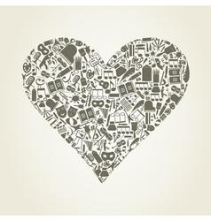 Art heart vector